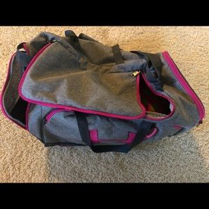 Pink and Gray Under Armor Duffel